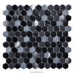 Intermatex Living Black üvegmozaik 30x30